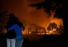 Wildfire Cali by Sonoma County California Wildfires Force Evacuations Near San