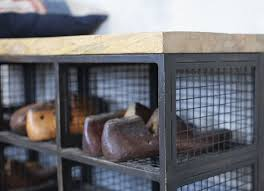 industrial storage bench hasa industrial storage bench home and lifestyle nkuku
