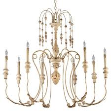 maison french country antique white 8 light chandelier kathy kuo