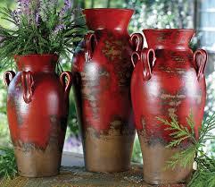 3 Vases Set Fairhaven Pottery Vases Set Of 3