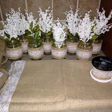 baptism table centerpieces find more burlap and lace baptism table decor set for sale at up