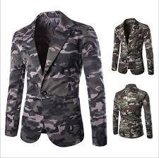 casual blazer 6588 s slim fit camouflage suit one button casual blazer army