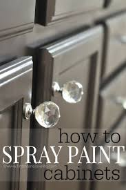 Painted Kitchen Cabinet Ideas Best 25 Spray Paint Cabinets Ideas On Pinterest Spray Paint