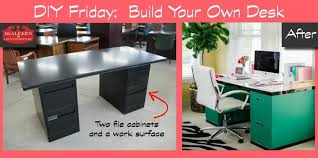 Diy File Cabinet Desk Diy Friday Build Your Own File Cabinet Desk Mcaleer S Office