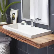 native trails trough sink native trails inc trough stone rectangular drop in bathroom sink