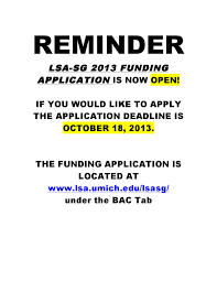 lsa student government funding application is now open campus