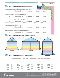 Sample Page Aop Horizons Free Printable Worksheet Sample Page Download For