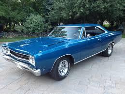 seller of classic cars 1968 plymouth gtx bright blue metallic
