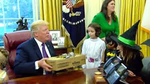 priceless president trump welcomes trick or treaters to the oval