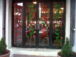 Christmas Window Glass Decorations by Christmas Window Painting Ideas Christmas Window Painting Ideas