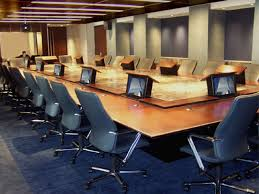 conference table with recessed monitors kpmg 01 executive boardroom jpg