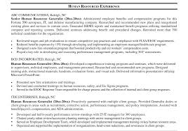 hr resume resume resume sle for human resource position beautiful hr