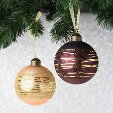 set of 12 shades of chocolate and gold glass ornaments