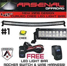 curved marine led light bar amazon com 1 42 inch curved 240w cree led light bar by arsenal