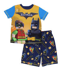 lego batman boys shorts pajamas set