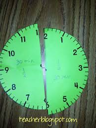 how can your students learn about clock fractions teacher blog spot