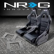Vw Golf R Seats Nrg Type R Deep Bucket Racing Seats Stainless Steel Bracket For