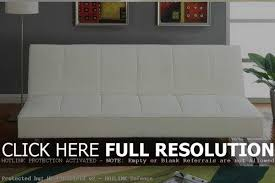 white faux leather futon bonners furniture