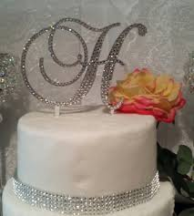 h cake topper ready to go initial monogram wedding cake topper swarovski