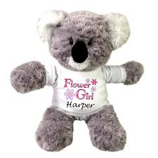 flower girl teddy flower girl teddy personalized 12 koala mandys moon
