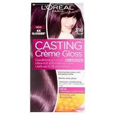 brown plum hair color casting creme 316 plum burgundy semi permanent hair dye superdrug