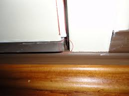 Exterior Door Seals Thresholds by Weatherstripping Sweep On New Front Door Do I Have A Problem