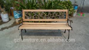 garden bench park bench cast iron frame and hardwood slats buy