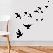 68 Best Wall Silhouettes Images by Witkey Flying Black Bird Flying High To Sky 3d Removable Vinyl