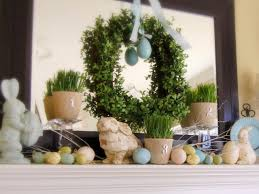 Easter Home Decorations Ideas Happy Easter With Lovely Easter Decor On The Mantel