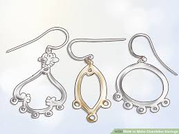 Wire Chandelier Earrings 1 How To Make Chandelier Earrings 12 Steps With Pictures