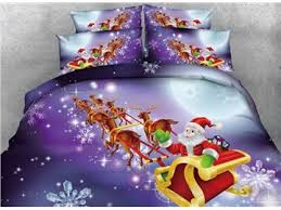 Santa Duvet Cover Onlwe 3d Snowman And Christmas Ornaments Printed Cotton 4 Piece