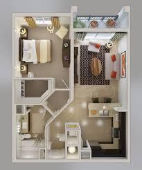 appartement avec une chambre 50 plans en 3d d appartement avec 1 chambres 3d appartements et plans