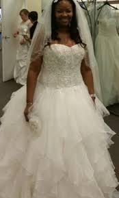 oleg cassini wedding dresses oleg cassini strapless ruffled skirt wedding dress 900 size 14