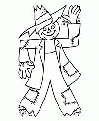 Halloween Scarecrow Coloring Pages Free Printable Scarecrow Coloring Pages For Kids With Scarecrow