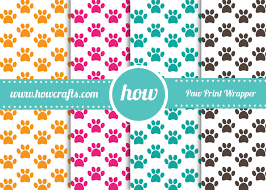 paw print tissue paper howcrafts 4 paw print wrapping paper in a3 pdf for free
