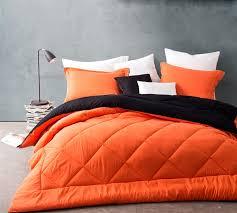 Comforter Orange Choose Extra Long Full Comforters Orange Black Reversible