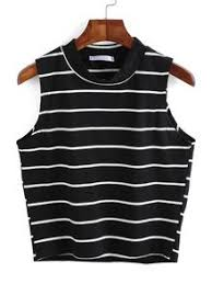 shein sheinside halter striped cami top 67 dkk liked on