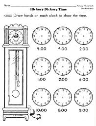 free worksheets telling time worksheets for kindergarten free