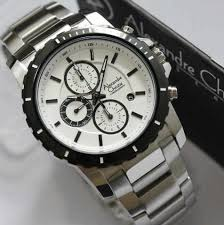 Jam Tangan Alexandre Christie Cowok jam tangan alexandre christie kode acp22 rantai silver untuk pria