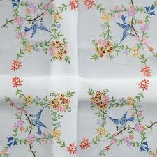 embroidery table cloth embroidery vintage design tablecloth