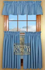 Country Porch Curtains Chambray Blue Curtain Valances