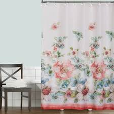 Colored Shower Curtain Coral And Teal Shower Curtain Home Design Plan