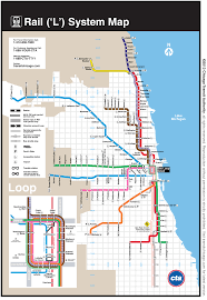 Chicago Printable Map by Red Line Map Chicago Adriftskateshop
