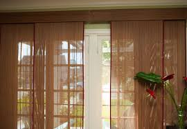 patio doors patior curtains and blinds woven wood matchstick