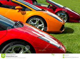 exotic cars lined up expensive european sports cars stock images image 22154704