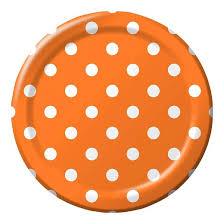 10ct orange polka dot paper dinner plates spritz target