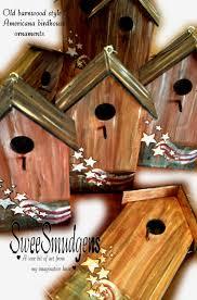 americana birdhouse ornament key holder floral craft supply garden