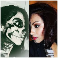 Skeleton Face Painting For Halloween by Half Face Halloween Makeup Ideas Pictures Tips U2014 About Make Up