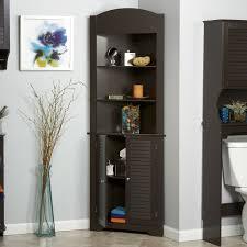 espresso bathroom linen tower corner towel storage cabinet with 3