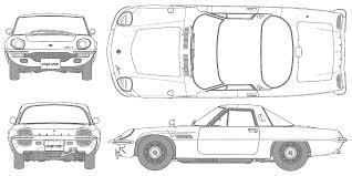 si e auto b auto mazda cosmo sport l10 b bild bild zeigt abbildung zeichnungen